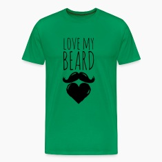 Lustige love my crazy hipster bart beard moustache T-Shirts