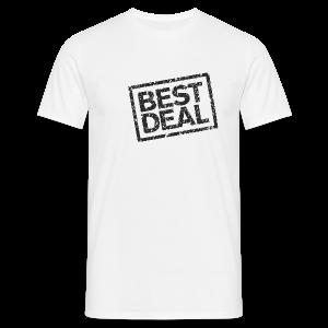Best Deal T-Shirt (Herren Weiß Schwarz) - Männer T-Shirt