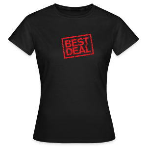 Best Deal T-Shirt (Damen Schwarz Rot) - Frauen T-Shirt