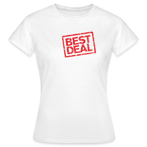 Best Deal T-Shirt (Damen Weiß Rot) - Frauen T-Shirt