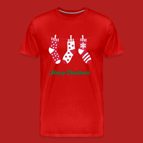 Christmas Socks - Men's Premium T-Shirt