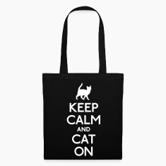 keep calm and cat on Bags & backpacks