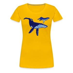 OCEANO Shirt Buckelwale - Frauen Premium T-Shirt