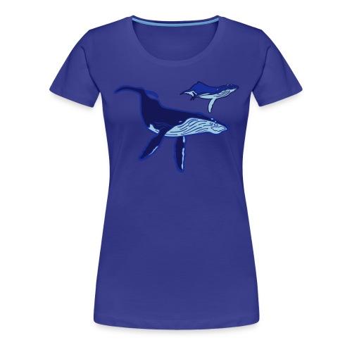 OCENAO Shirt Buckelwale - Frauen Premium T-Shirt