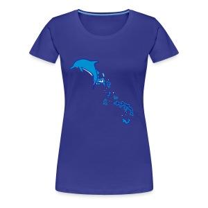 OCENAO Shirt Delfinsprung - Frauen Premium T-Shirt