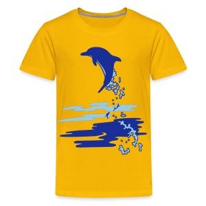 OCEANO Kinder Basic Delfinsprung - Teenager Premium T-Shirt