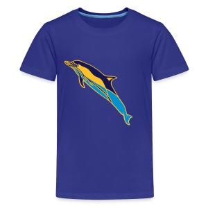 OCEANO Kinder Basic gewöhnlicher Delfin - Teenager Premium T-Shirt