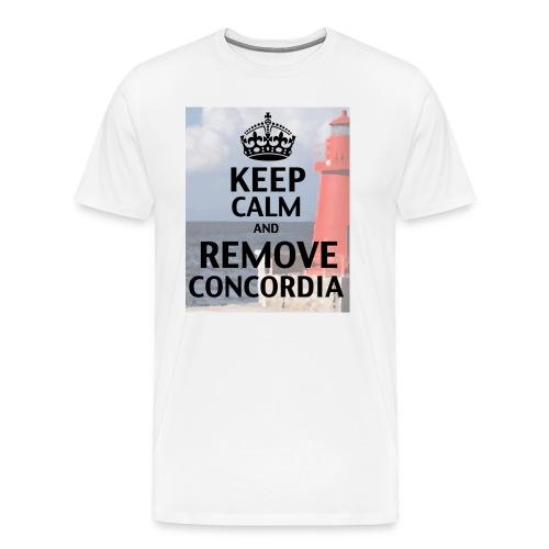 keep calm remove concordia isola giglio island costa crocere inchino - Maglietta Premium da uomo