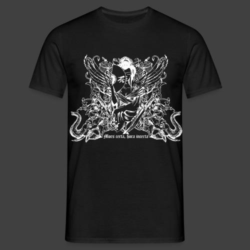 Mors certa white - Männer T-Shirt