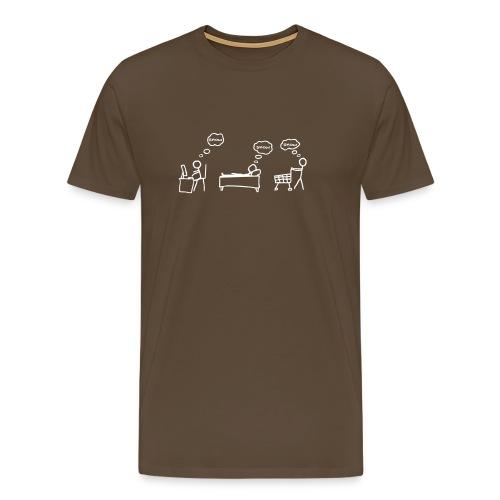 Dreamer  (Brown) - Men's Premium T-Shirt