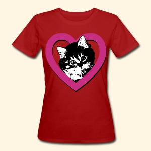 Frauen T-Shirt Bio - Lieblingskatze - Frauen Bio-T-Shirt