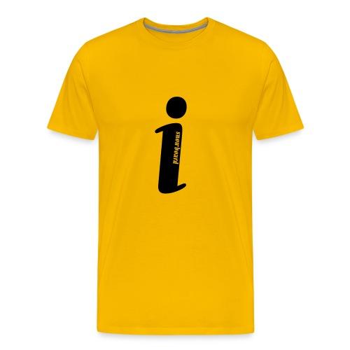 I Snowboard (Yellow) - Men's Premium T-Shirt