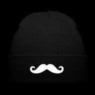 Moustache Beanie M�tze Mustache Schnurrbart