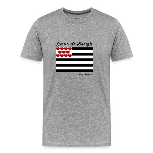 Cœur de Breizh - T-shirt Premium Homme