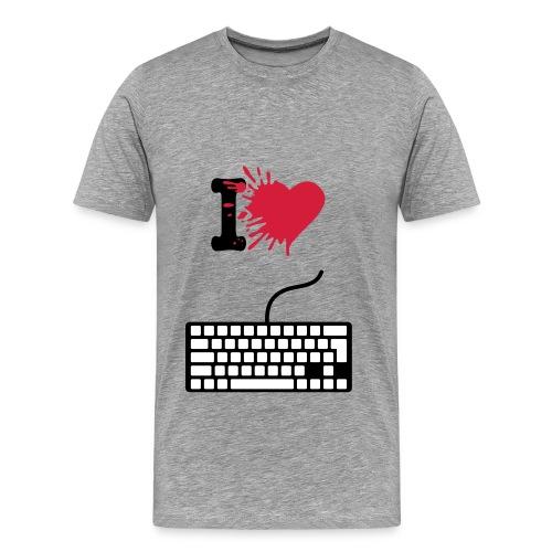 I love gaming and hate sports tshirt - Men's Premium T-Shirt