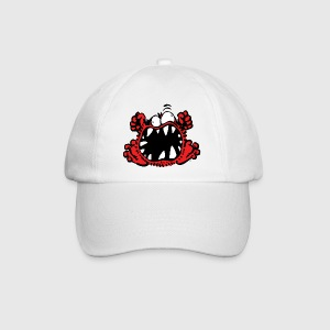 Angry Little Cartoon Monster by Cheerful Madness!! Caps & Hats - Baseball Cap