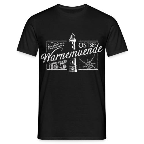 Warnemünde Tee - Chalkboard - Männer T-Shirt