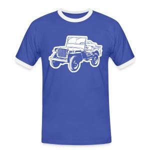 Willys Jeep - Männer Kontrast-T-Shirt