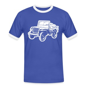 Willys Jeep - Männer Kontrast-T-Shirt