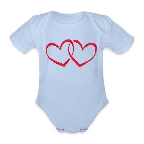 Baby Body Herz - Baby Bio-Kurzarm-Body