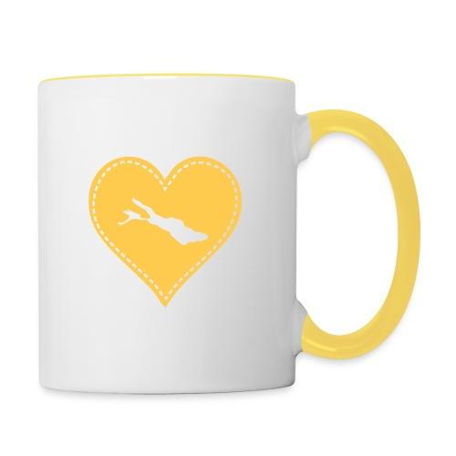 TASSE Bodensee gelb - Tasse zweifarbig