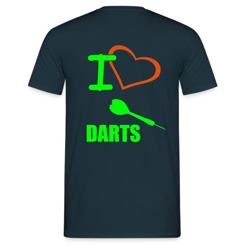 T-Shirt I Love Darts - Männer T-Shirt
