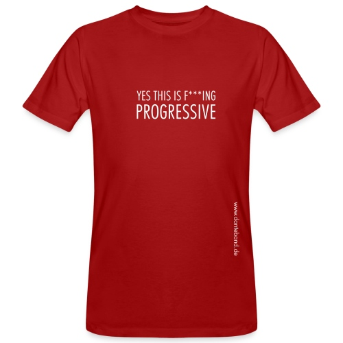 DANTE YES..small print T-Shirt men red - Männer Bio-T-Shirt