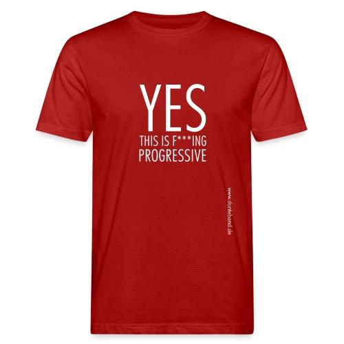 DANTE YES..big print T-Shirt men red - Männer Bio-T-Shirt