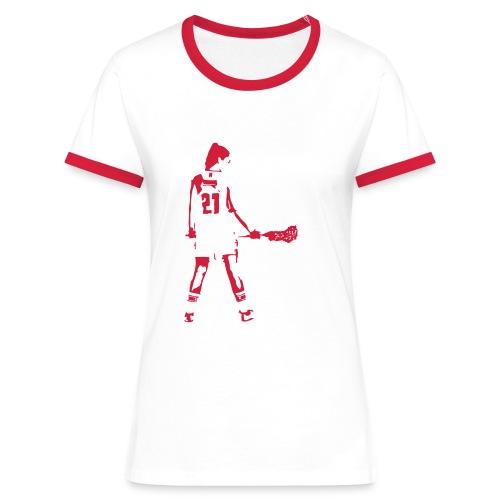 Laxgirl 21 Doris - Frauen Kontrast-T-Shirt