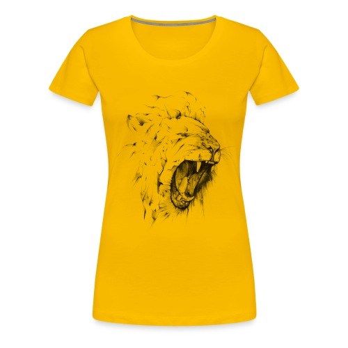 Angry Lion - Frauen Premium T-Shirt