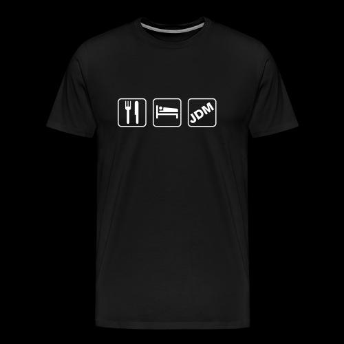 EAT SLEEP JDM - weißer Druck - Männer Premium T-Shirt