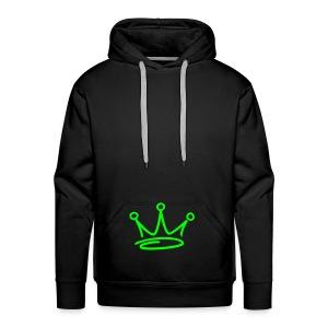 Black/Green Pull-Over Hoodie - Men's Premium Hoodie