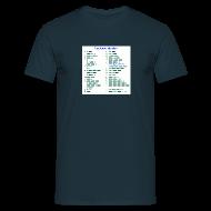 T-Shirts ~ Männer T-Shirt ~ Morse-Alphabet T-Shirt dunkel