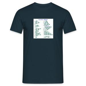 Morse-Alphabet T-Shirt dunkel - Männer T-Shirt