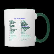 Tassen & Zubehör ~ Tasse zweifarbig ~ Morse-Alphabet Tasse
