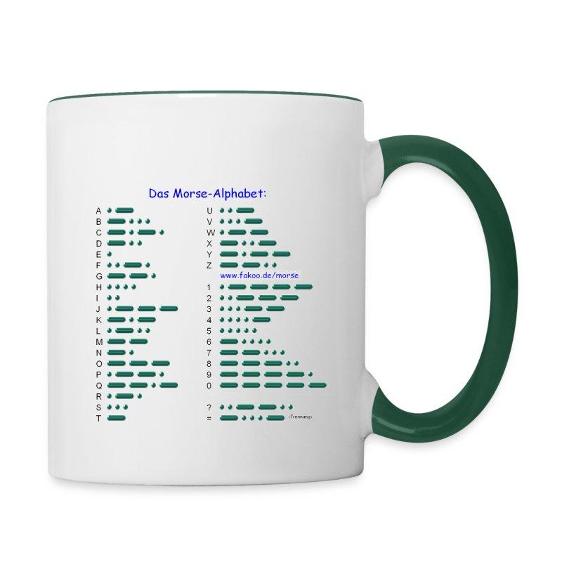 Morse-Alphabet Tasse - Tasse zweifarbig