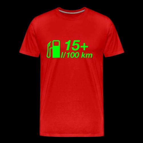 15+ l/100 km - grüner Druck - Männer Premium T-Shirt