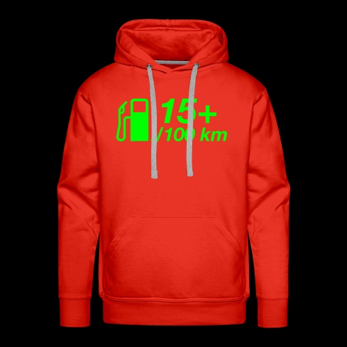 15+ l/100 km - grüner Druck - Männer Premium Hoodie