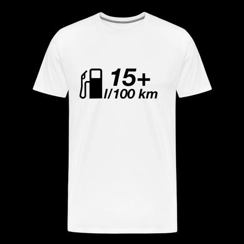 15+ l/100 km - schwarzer Druck - Männer Premium T-Shirt