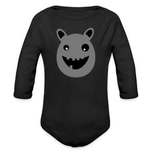 Thaddeus the little monster - Organic Longsleeve Baby Bodysuit