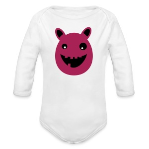 Thaddeus the little monster - Organic Longsleeve Baby Bodysuit