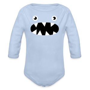 Phillip the little monster - Organic Longsleeve Baby Bodysuit