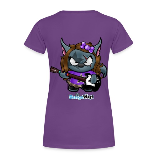Little Rockstar Wolf - Women's Premium T-Shirt
