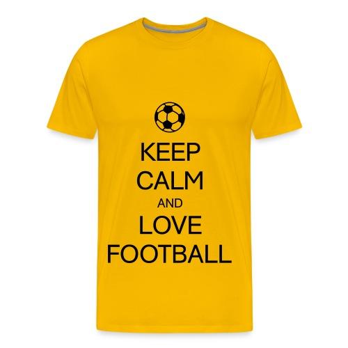 Keep CALM AND LOVE  Football T-Shirt - Männer Premium T-Shirt