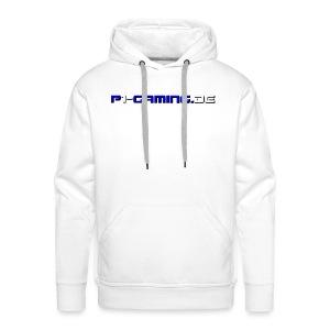 Schriftzug vorne & hinten (weiß) - Männer Premium Hoodie