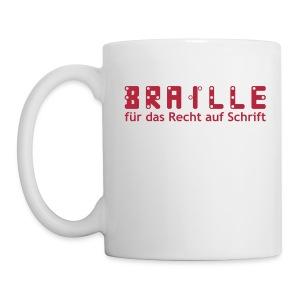 Braille für das Recht auf Schrift -Tasse - Tasse