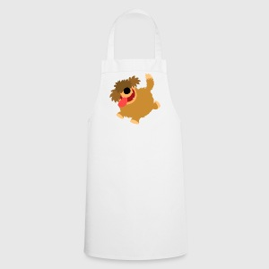 Big Hairy Cartoon Dog by Cheerful Madness!!  Aprons - Cooking Apron