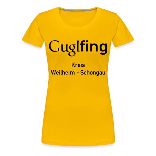 Guglshirt Frauen Black - Frauen Premium T-Shirt