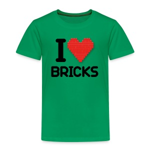 I love Bricks (dd print) - Kinder Premium T-Shirt