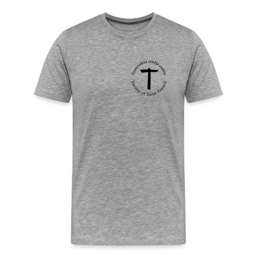 Herr T-shirt premium svarttryck - Premium-T-shirt herr